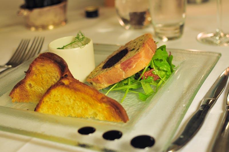 Mar Hall Chicken and Stornoway black pudding parfait