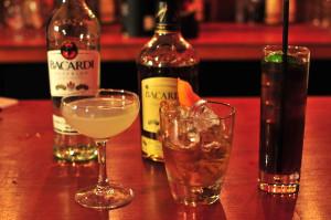 Bacardi Bottles and Cocktails