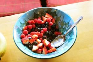 Carfraemill breakfast fresh berries