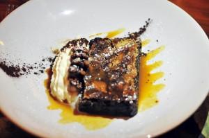 Carfraemill pudding double choc fudge brownie