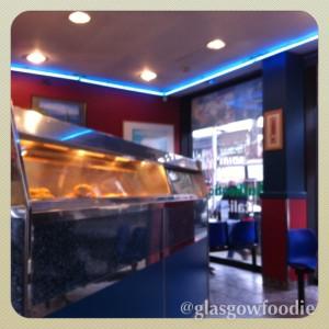 Blue lagoon inside  Glasgow © food and drink Glasgow blog