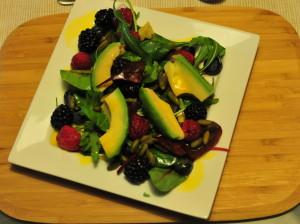 Maille  - Mango Vinegar Superfood Salad © Food and Drink Glasgow