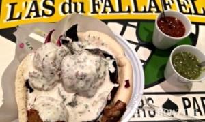 Best vegetarian dish: Falafel at L'As du Falaffel, Paris chowzter awards london food and drink glasgow blog