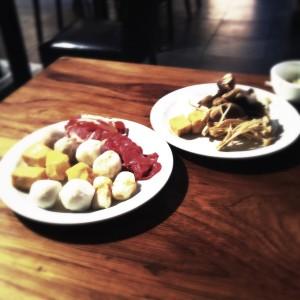 Hot pot ingredients, Chukoku / Feast World Buffet, © Food and Drink Glasgow blog