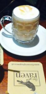 Cafe latte The raven pub bar Glasgow maclay inns food drnk Glasgow blog 81 Renfield street