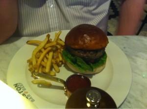 Rump burger Alston bar and beef Glasgow Central railway station food and drink Glasgow blog set menu lunch