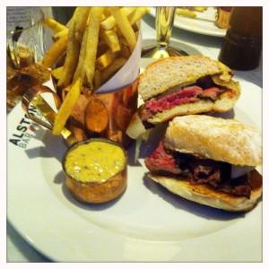 Steak sandwich Alston bar and beef Glasgow Central railway station food and drink Glasgow blog set menu lunch