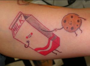 milk cookie tattoo