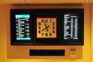 Gordon Street Coffee Clock & Train Times