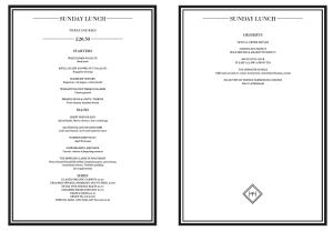 The Honours sunday e menu Martin Wishart Malmaison Glasgow