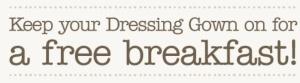 Dressing gown breakfast giraffe