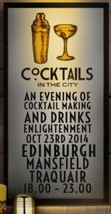 Cocktails in the city Edinburgh