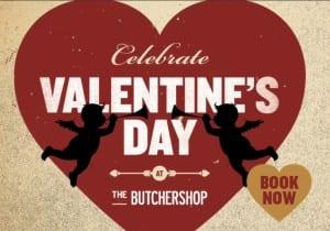 Butchershop bar and grill,Glasgow valentine menu