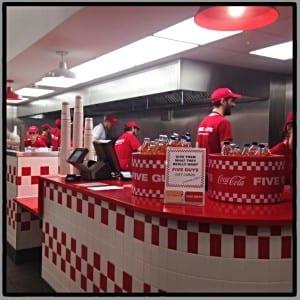 Five guys burgers glasgow