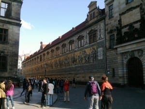 Furstenzug Dresden Germany bombing anniversary holiday vacation