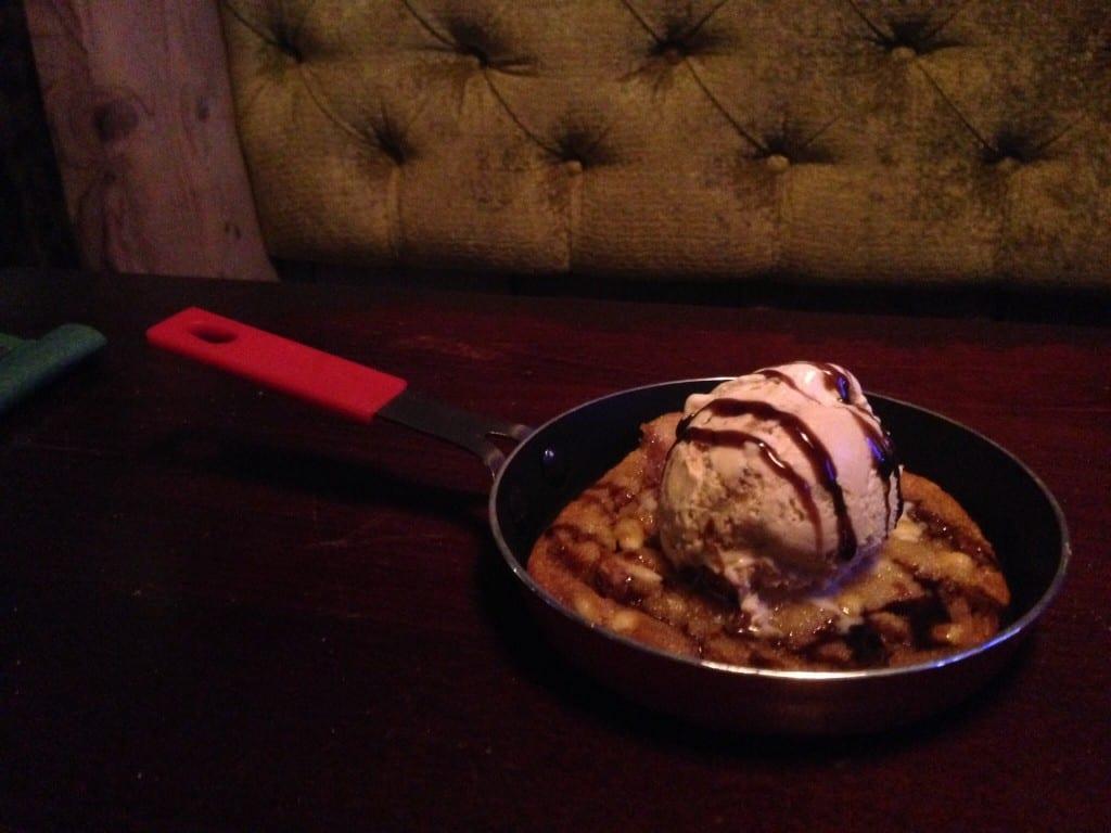 Kitty O'Shea's bar Waterloo street Glasgow cookie dessert pudding