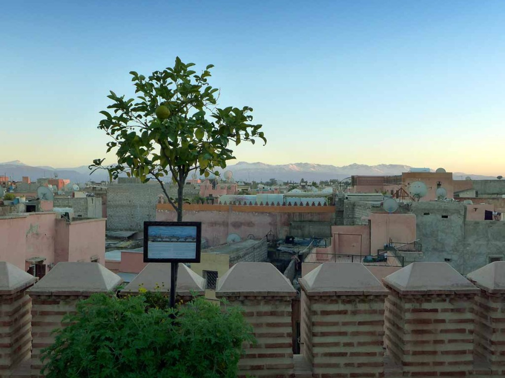 La Sultana - roof terrace at dusk