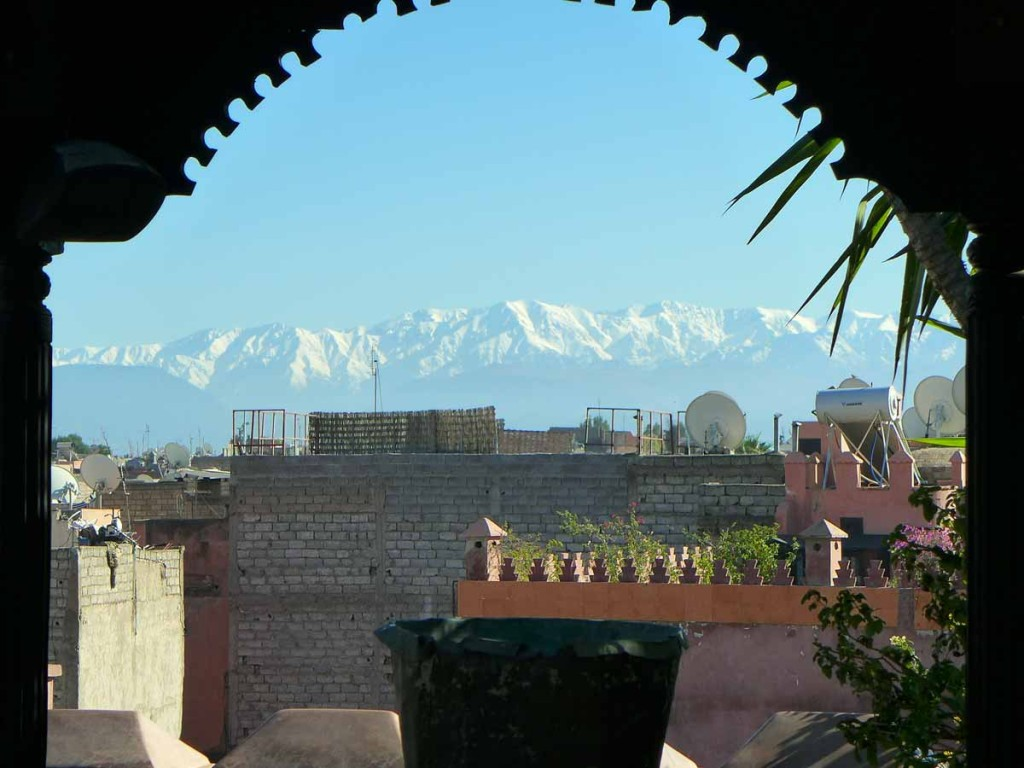 La Sultana - view from roof terrace