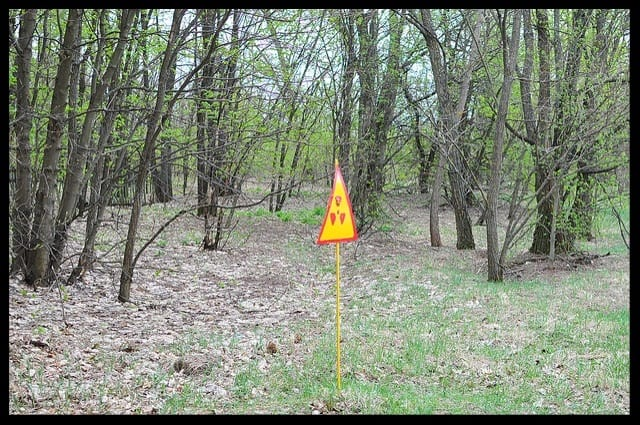 radioactive house sign chernobyl