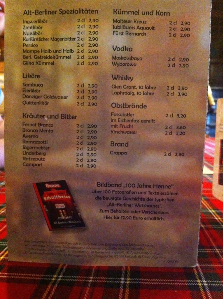 menu henne berlin germany food drink glasgow foodie