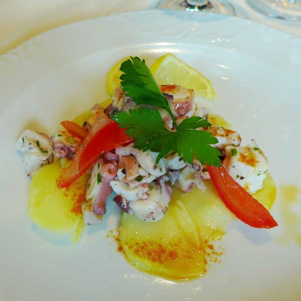 MSC Splendida - Squid appetizer
