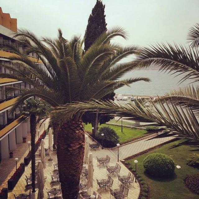 view from balcony ilirija hotel croatia glasgow foodie explorers