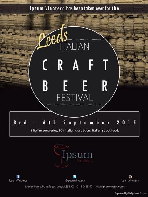 italy italian beer festival leeds glasgow foodie explorers