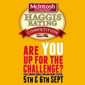 mcintosh foods haggis eating challenge glasgow foodie