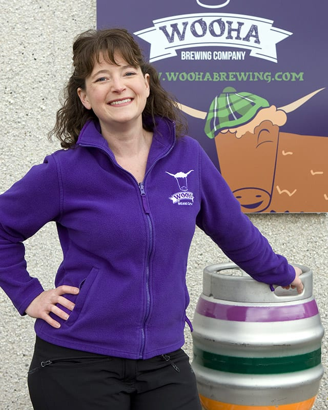 Heather MacDonald - owner and head brewer at WooHa Brewing Company[3]
