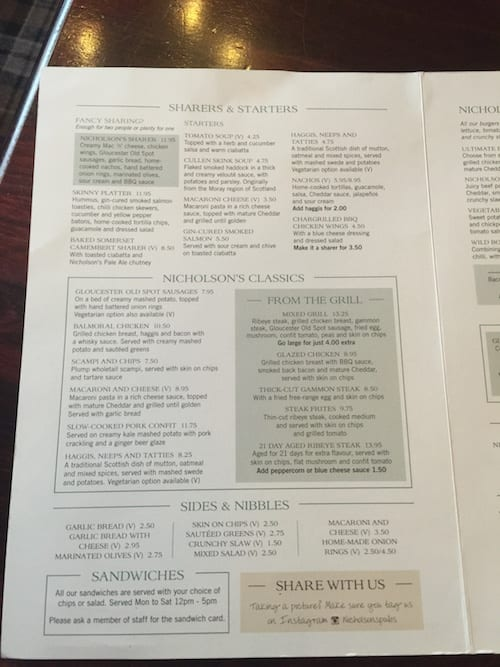 glasgow foodie explorers food travel blog Drum_and_Monkey_Glasgow_Menu1