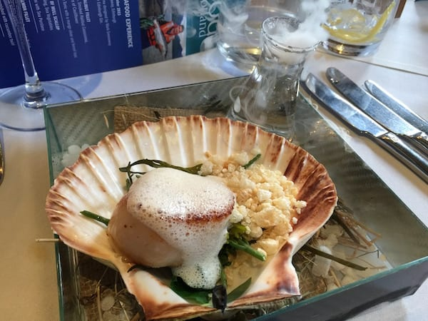 glasgow foodie explorers Mark_Greenaway_Seafood_Scotland_Mull_Scallop_before