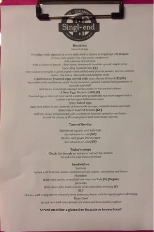 singl end glasgow foodie explorers menu