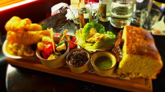 Glasgow gin club forage - Kelvingrove cafe platter