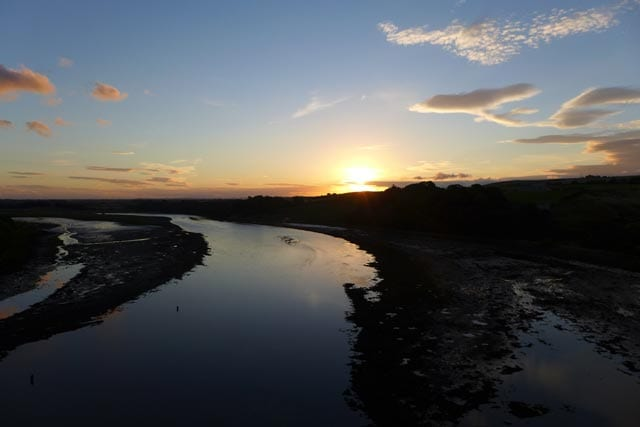 Sunset over the Tweed