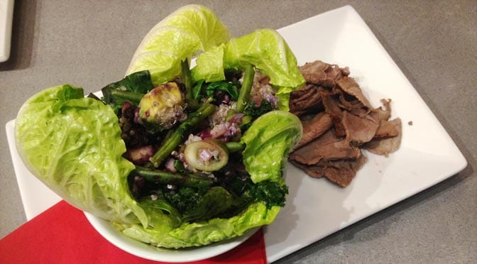 Prep Fitness Kitchen - superfood salad, lean beef