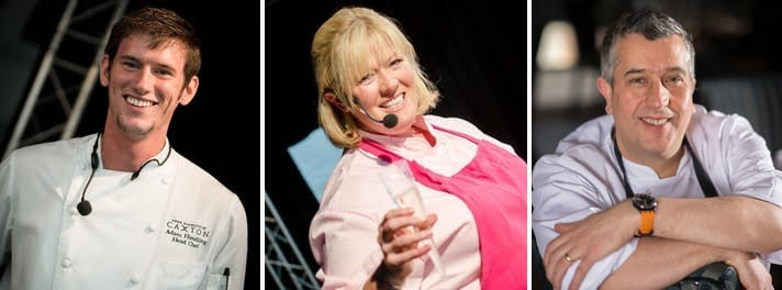 (L-R: Adam Handling, Jacqueline O'Donnell and Stuart Muir Foodies festival edinburgh