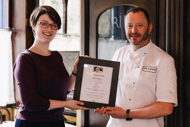 Neil Forbes cafe st honore Edinburgh soil association organic