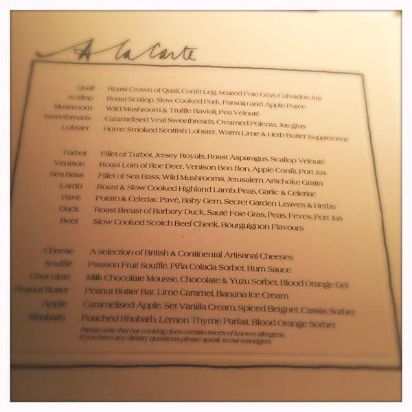 restaurant andrew fairlie gleneagles scotland review glasgow foodie explorers ala carte menu