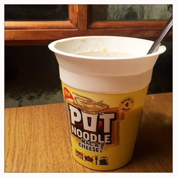 Mac and cheese pot noodle