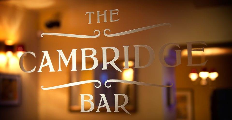 The Cambridge bar Edinburgh
