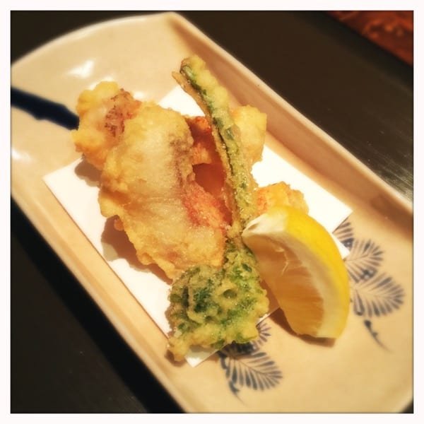 Sea bream tempura