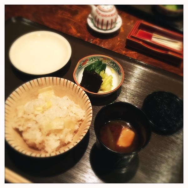 Seabream rice, miso soup , pickles