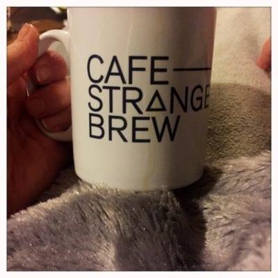 Cafe strange brew cup mug