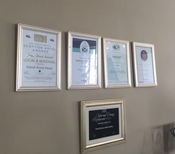 Atholl Arms Dunkeld awards
