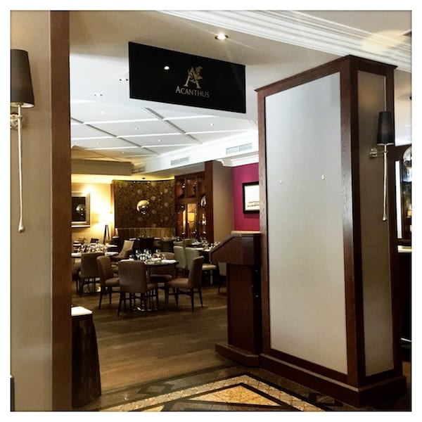 Acanthus Restaurant at Macdonald Holyrood Hotel