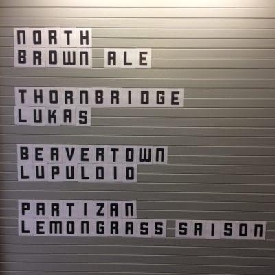 Grunting growler Glasgow beer