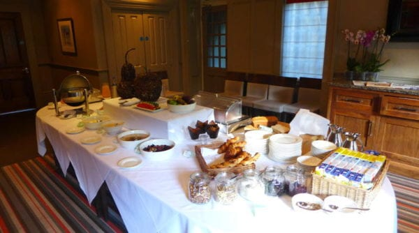 Jesmond Dene House hotel - breakfast buffet