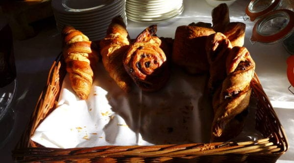 Jesmond Dene House hotel - breakfast pastries