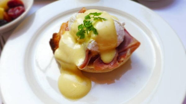 Jesmond Dene House hotel - eggs benedict