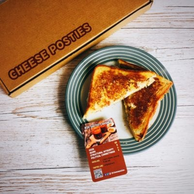 Cheese Posties toasted sandwich